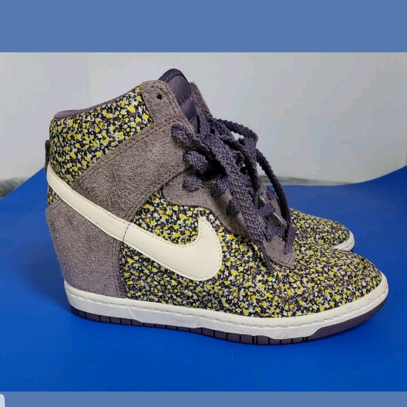 check out f0df5 5b7c6 ... discount code for nike dunk sky high lib london floral wedge sneaker  9d109 d75d4